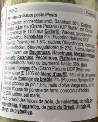 Sauce pesto verde - Ingredients