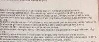 Cotto Prix Garantie - Valori nutrizionali - fr