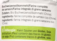 Farine de sarrasin - Ingredients - fr