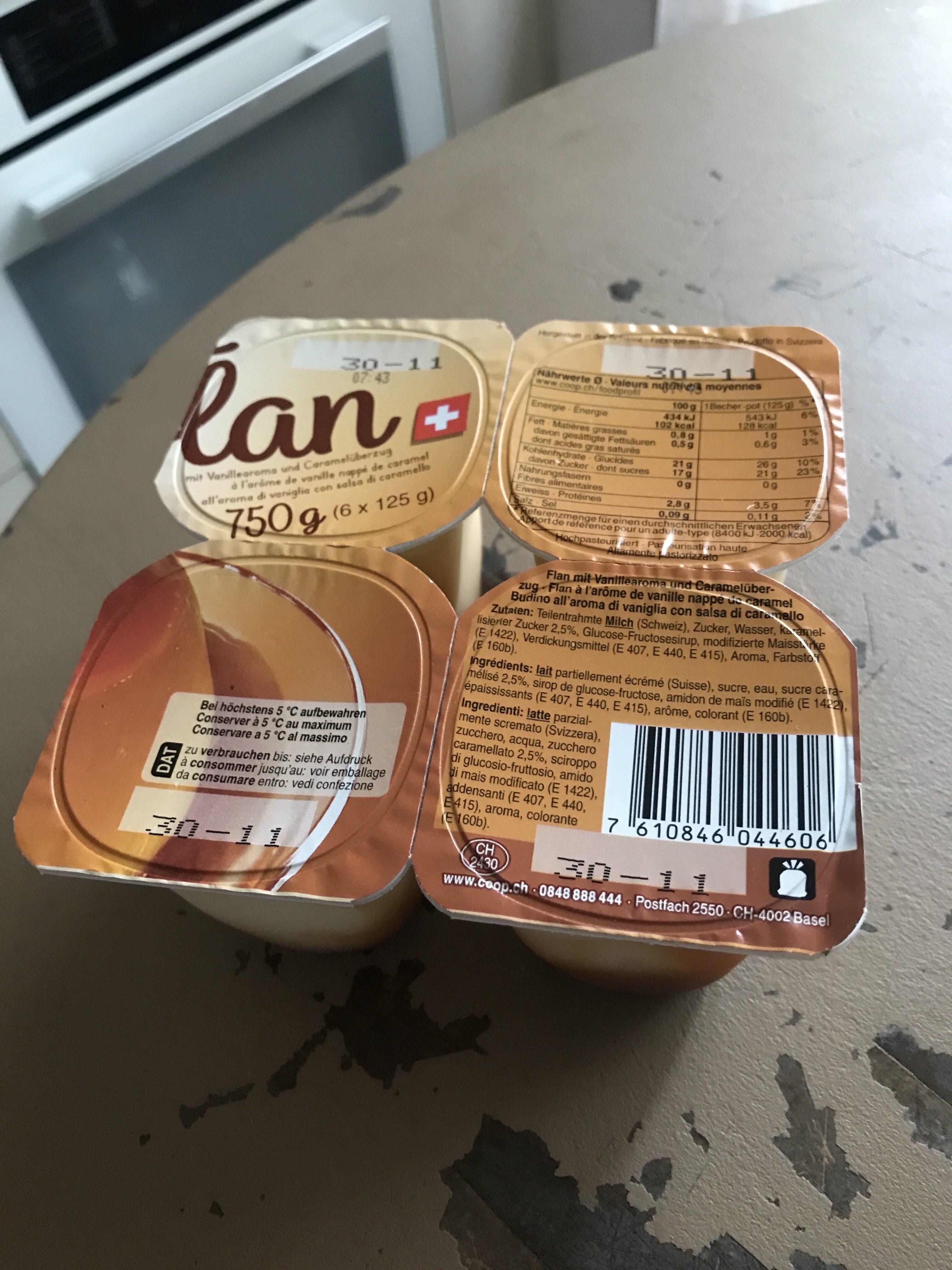 Flan à l'arôme de vanille nappé de caramel - Prodotto - fr