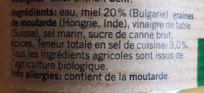 Moutarde au miel - Ingredients - fr