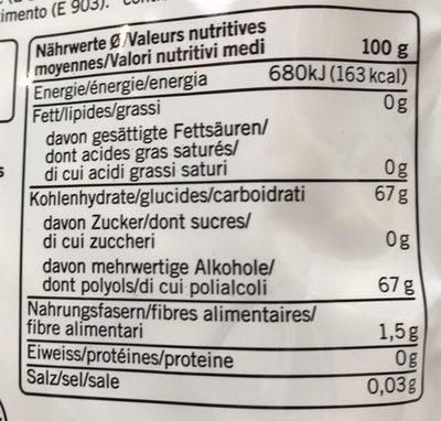 Gomme à mâcher à la menthe verte sans sucre - Nutrition facts - fr