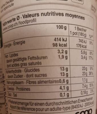 Yaourt mûre bio - Nutrition facts - en
