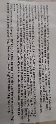 Qualité & Prix Charcuterie de volaille - Ingredients