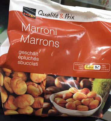Marrons épluchés - Product - fr