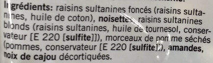 Mélange de fruits secs - Ingrédients - fr