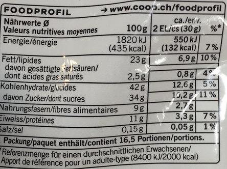 Mélange de fruits secs - Informations nutritionnelles - fr