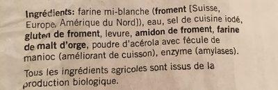 Pain Pagnol Bio - Ingredienti - fr