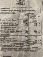 Pain Pagnol Foncé Bio - Informazioni nutrizionali - en