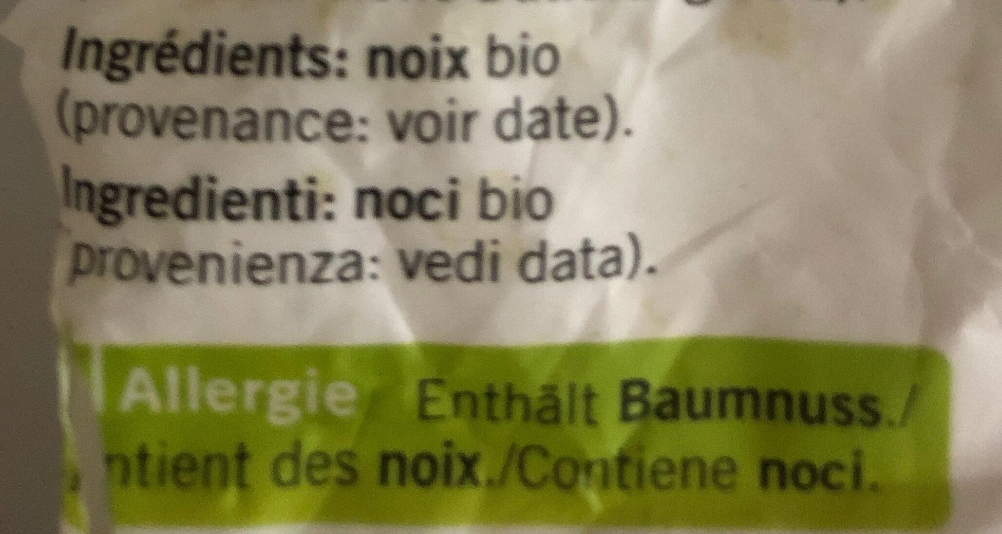 Noix - Ingredients