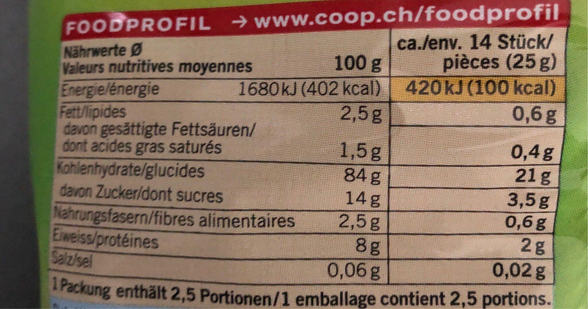 Jamadu galette de riz au miel - Informations nutritionnelles - fr