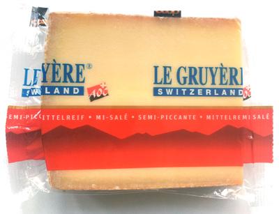 Le Gruyère mi-salé - Product - fr
