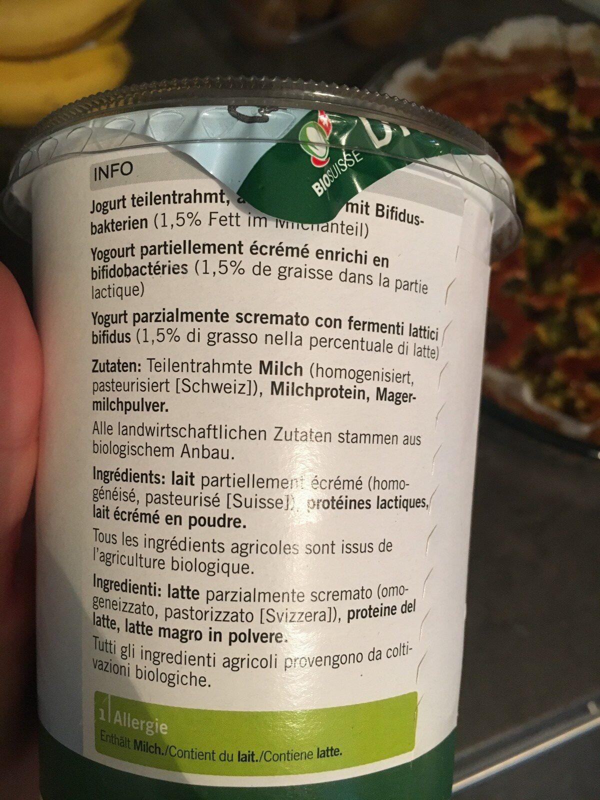 Jogurt Bifidus Nature - Ingrédients - fr