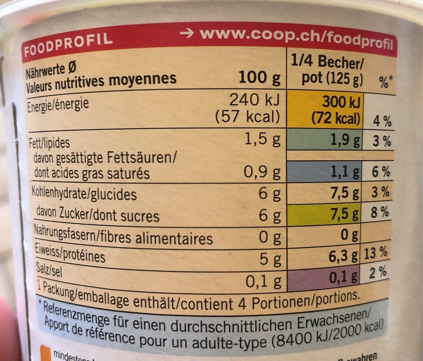 Jogurt Bifidus Nature - Informations nutritionnelles - fr