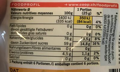 Sweet & Fruity - gommes fruitées - Nutrition facts