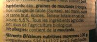 Moutarde de Dijon bio - Ingredienti - fr
