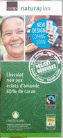 Chocolat noir aux amandes 60% cacao - Product - fr