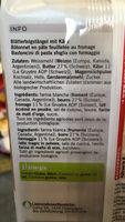 Flûtes au Gruyère - Ingredients