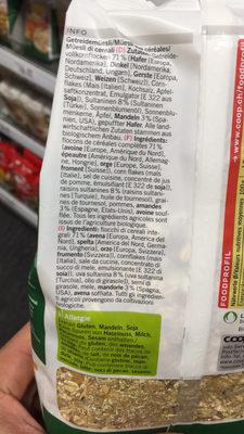Müesli aux 5 céréales - Ingrediënten - fr