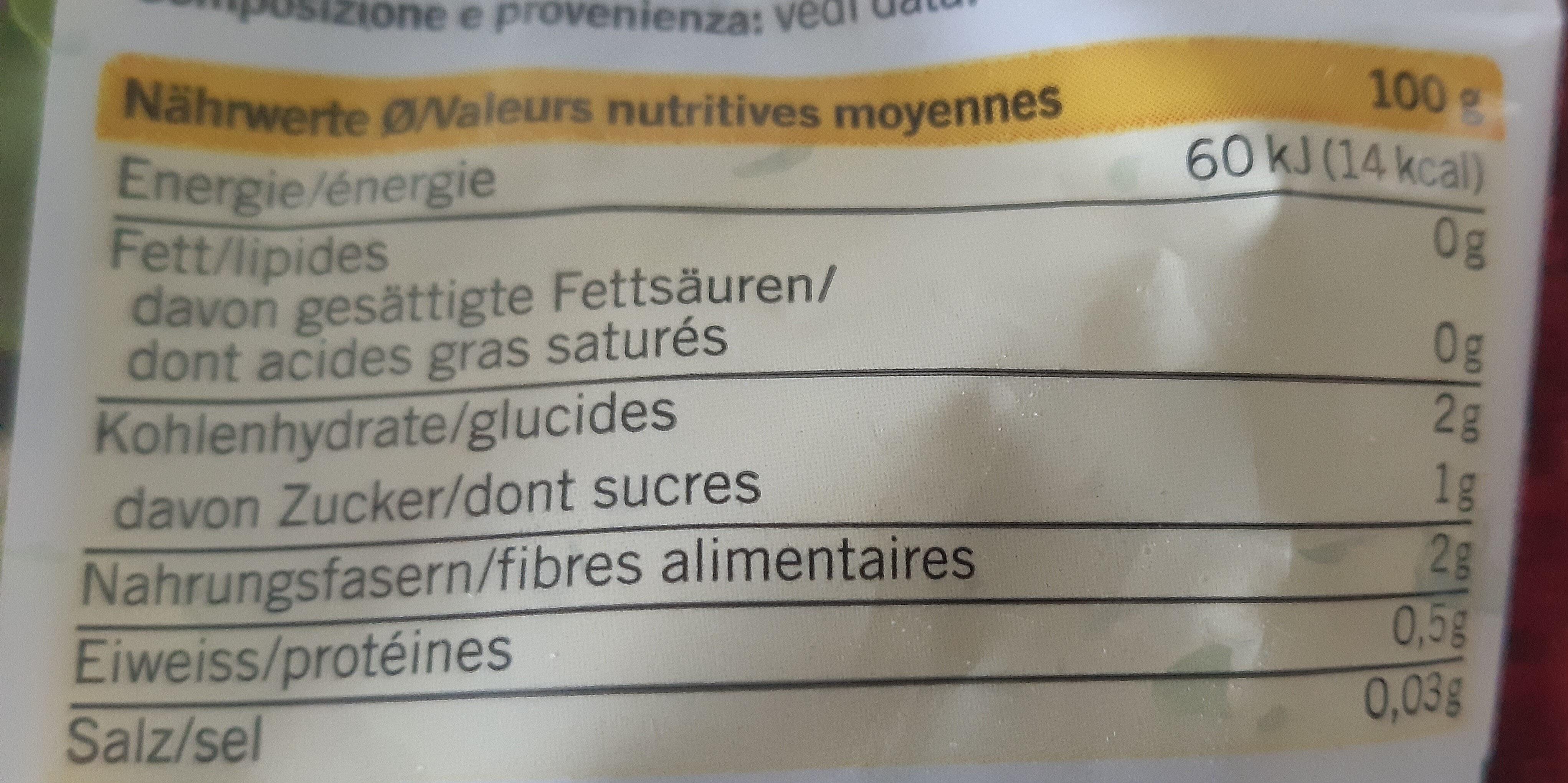 Mélange de salades - Voedingswaarden - fr