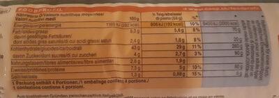 Rustico Pizzateig - Informations nutritionnelles - fr