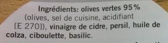 Olive giganti - Ingredients