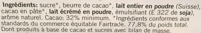 Chocolat au Lait - Ingredienti - fr