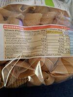Conchiglie Rigate d'Épeautre Bio - Valori nutrizionali - fr