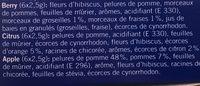 Qualité & Prix Mix mélanges de fruits à infusion aromatisés - Ingredients