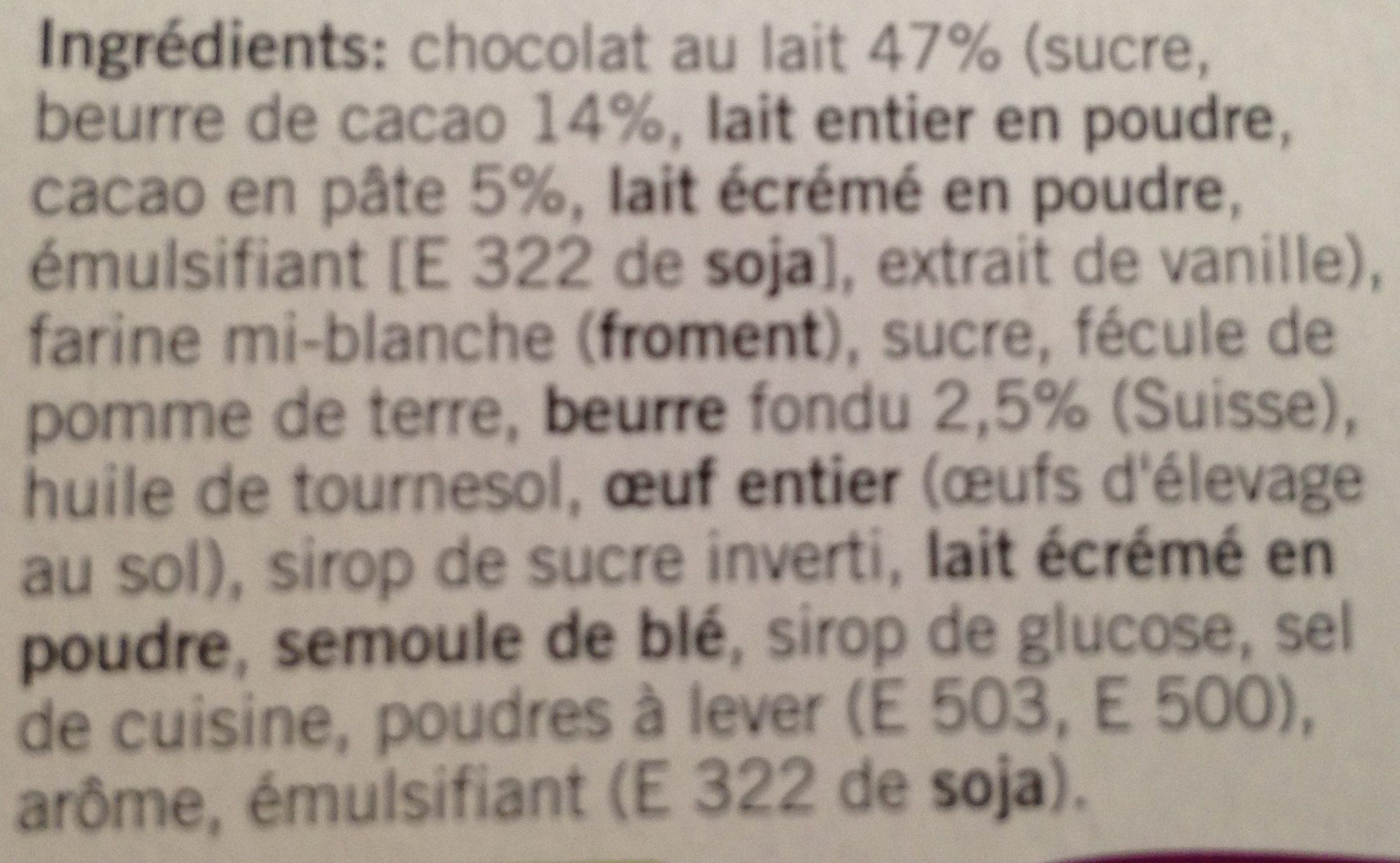 Petit Beurre Chocolat Au Lait - Ingrediënten - fr