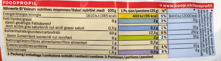 Galettes de riz - Informazioni nutrizionali - fr