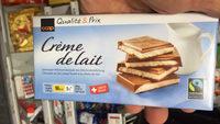 Chocolat au lait suisse fourré à la crème de lait - Produit - fr