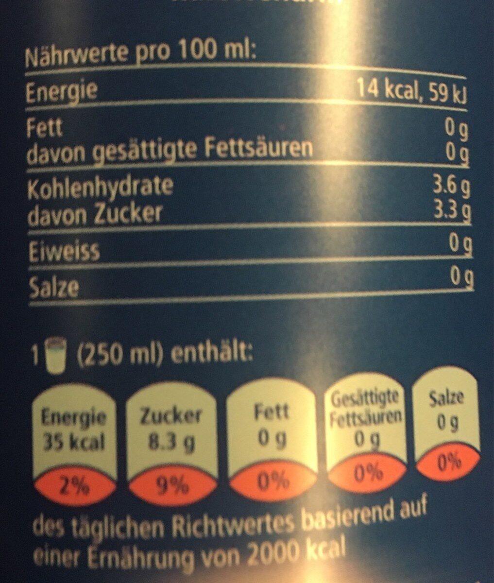 Knutwiler Himbeer-Melisse - Nutrition facts - fr
