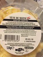 Tête De Moine, Rosetten - Ingrediënten - fr