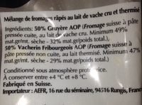 Fondue - Ingredients - fr