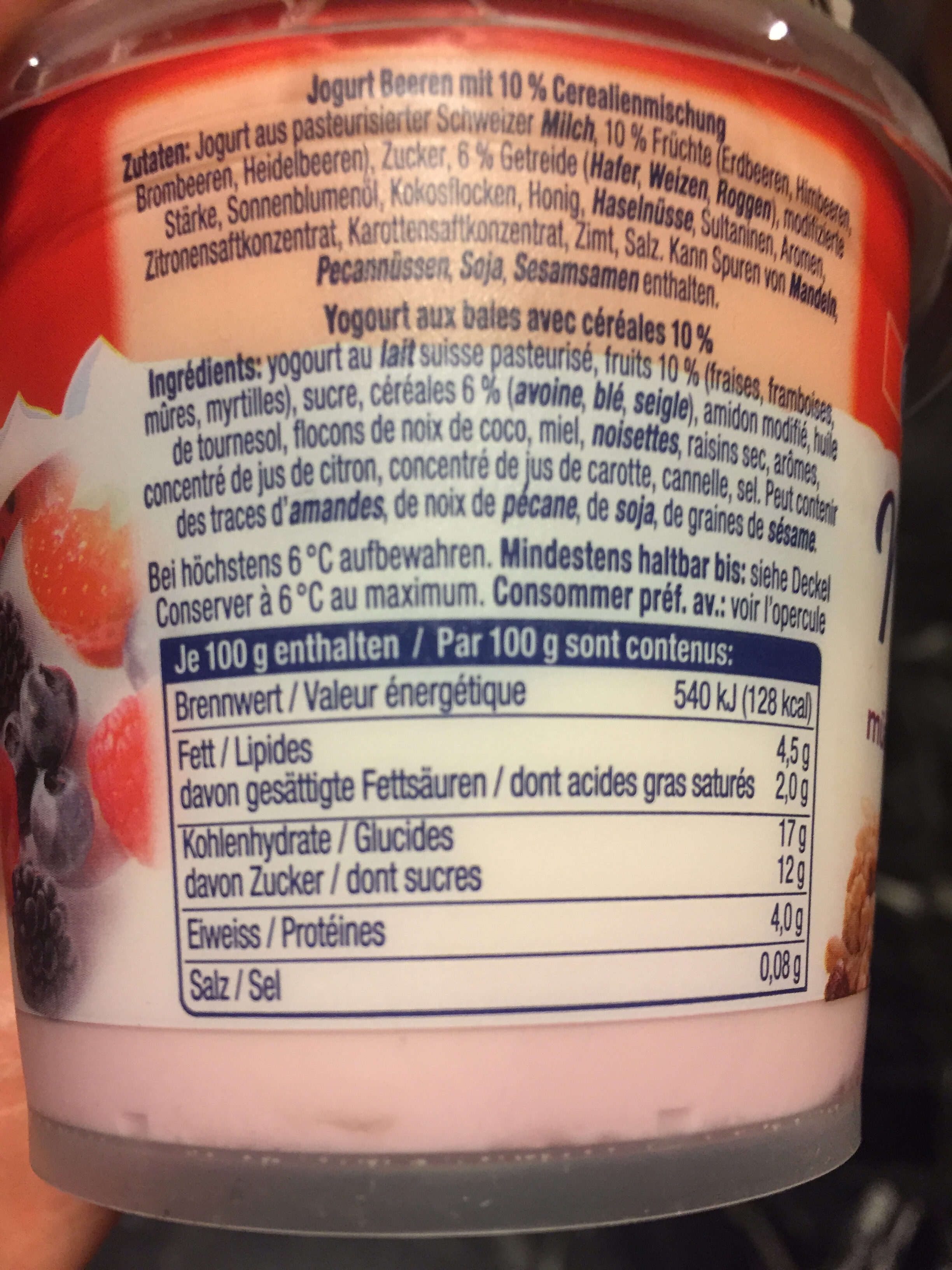 Yaourt mixit - Nutrition facts - fr