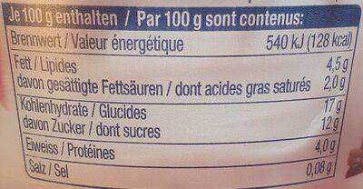 Yaourt mixit - Informations nutritionnelles - fr