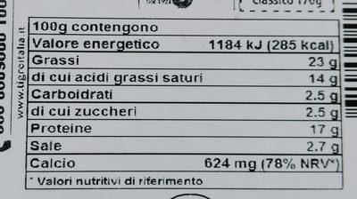 Tigre Classico 12 spicchi - Voedingswaarden - it