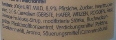 Vollkorn Pfirsich - Inhaltsstoffe
