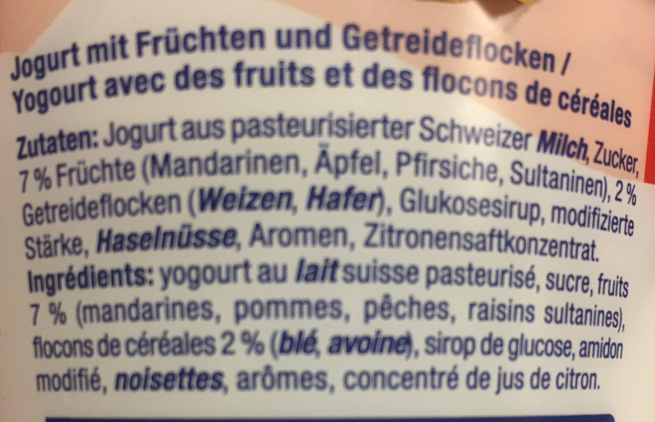 Mixit, Birchermüsli - Ingredients