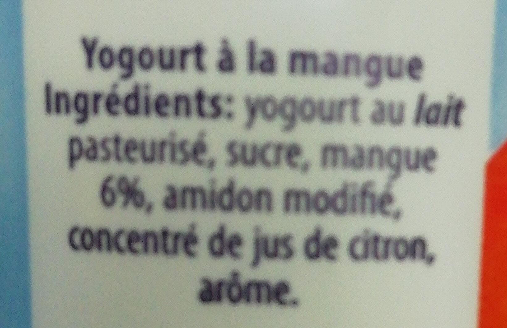 Yoghurt Mangue - Ingredients
