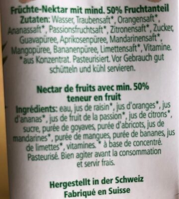 Jus de fruit - Ingredients - en