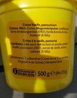 Crème dessert vanille - Ingrédients - fr