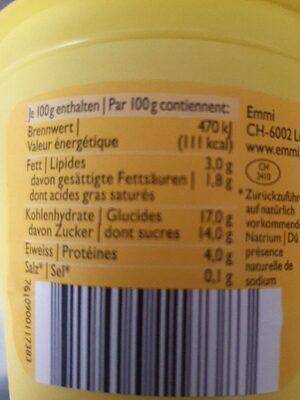 Crème dessert vanille - Informations nutritionnelles - fr