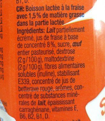 Énergy Milk - Ingrediënten - fr