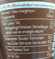 Caff? Latte Cappuccino - Voedingswaarden - fr