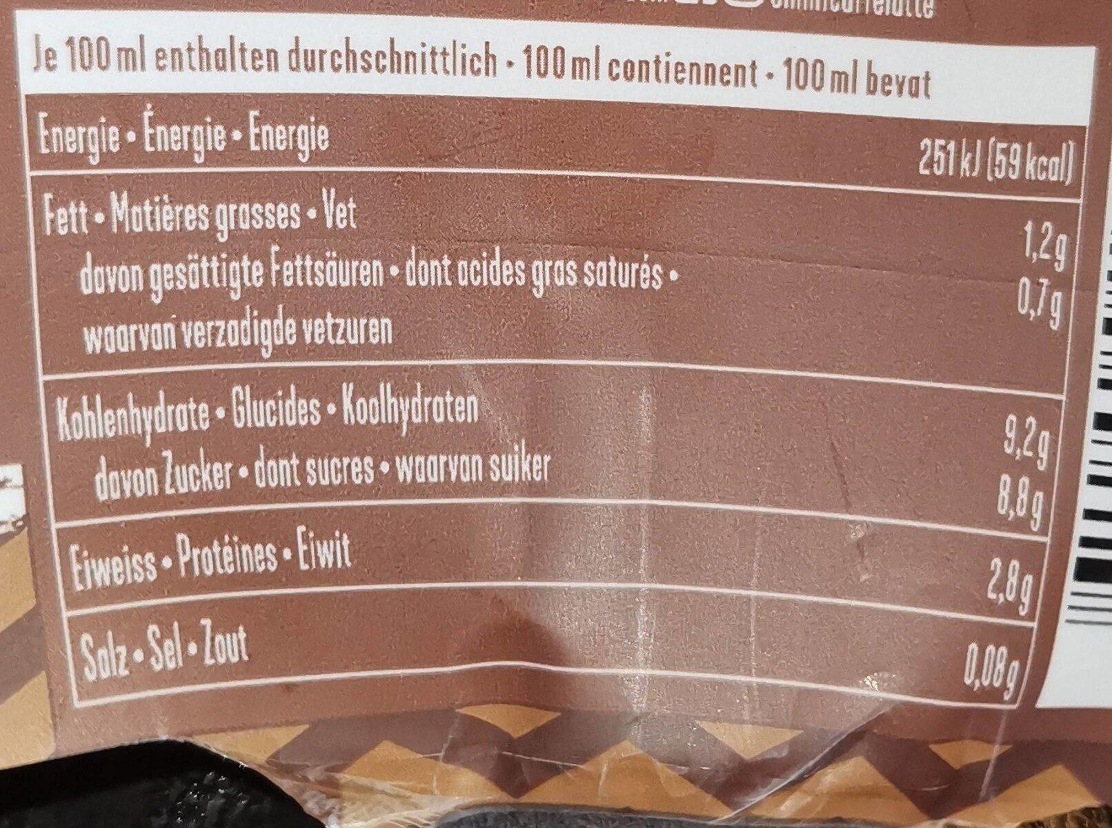 Caffè Latte Cappuccino - Informations nutritionnelles - fr