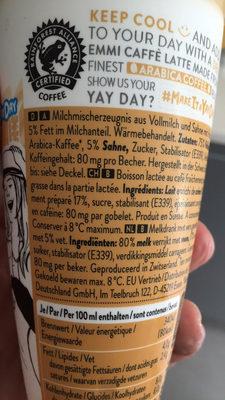 Caffe Latte Macchiato - Ingrédients - fr