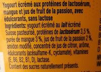 Whey Protein Yogurt Mango Passionfruit - Ingredients - fr