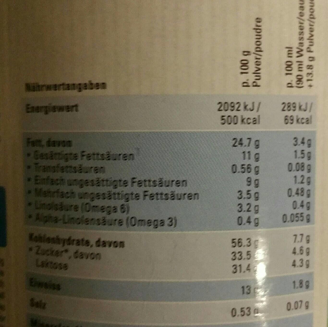 Bio Lait de croissance dès 12 mois / Kindermilch Ab 12 Monaten - Informations nutritionnelles - fr